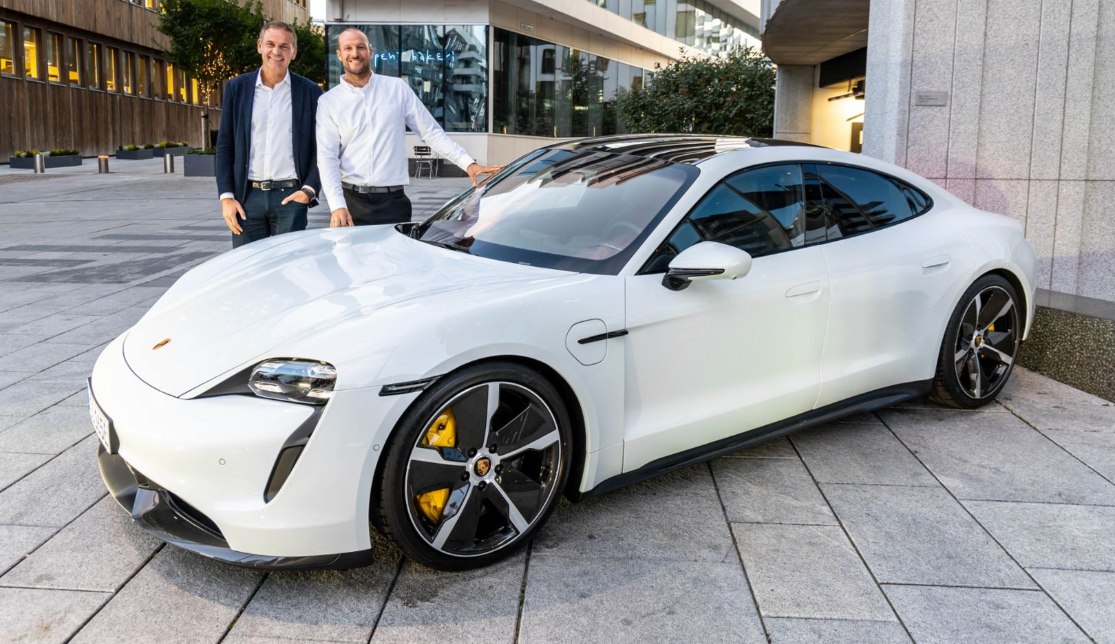 Oliver Blume, Chairman of the Executive Board of Porsche AG, Aksel Lund Svindal, Porsche Brand Ambassador, 2019, Porsche AG