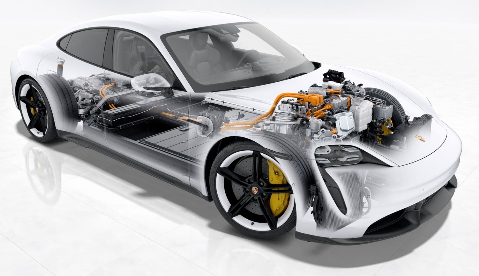 Taycan Turbo S: Cut-away view, 2019, Porsche AG