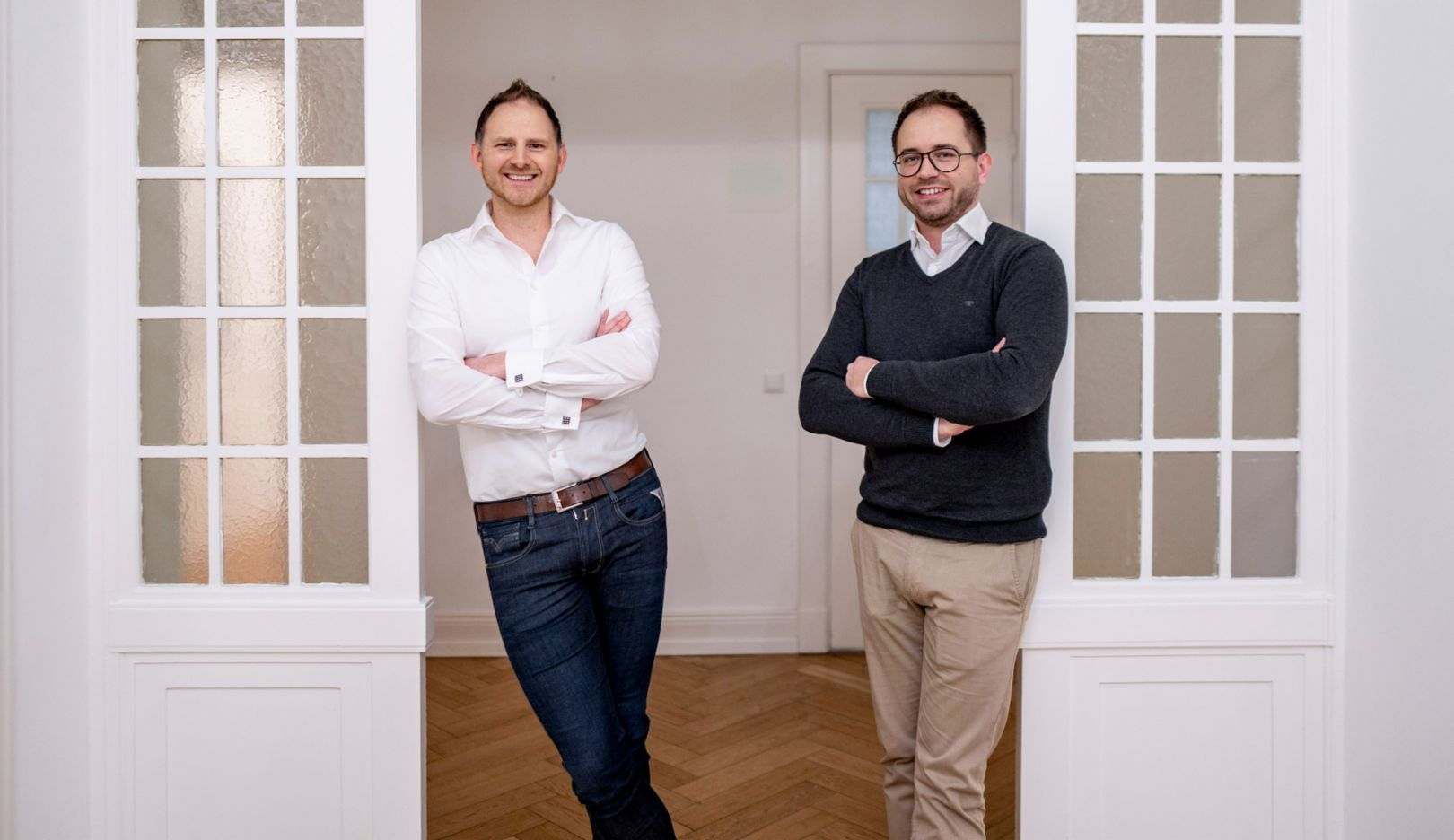 Henner Heistermann, Founder and CEO of Nitrobox, Sven Grimminger, co-founder and CTO, l-r, 2020, Porsche AG