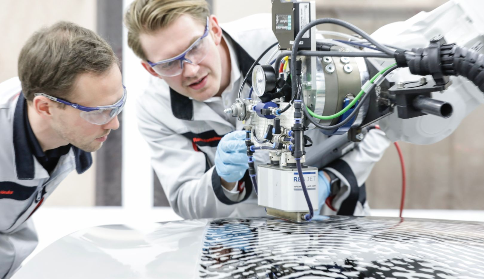 Porsche project team, Direct printing method, Zuffenhausen training centre, 2020, Porsche AG
