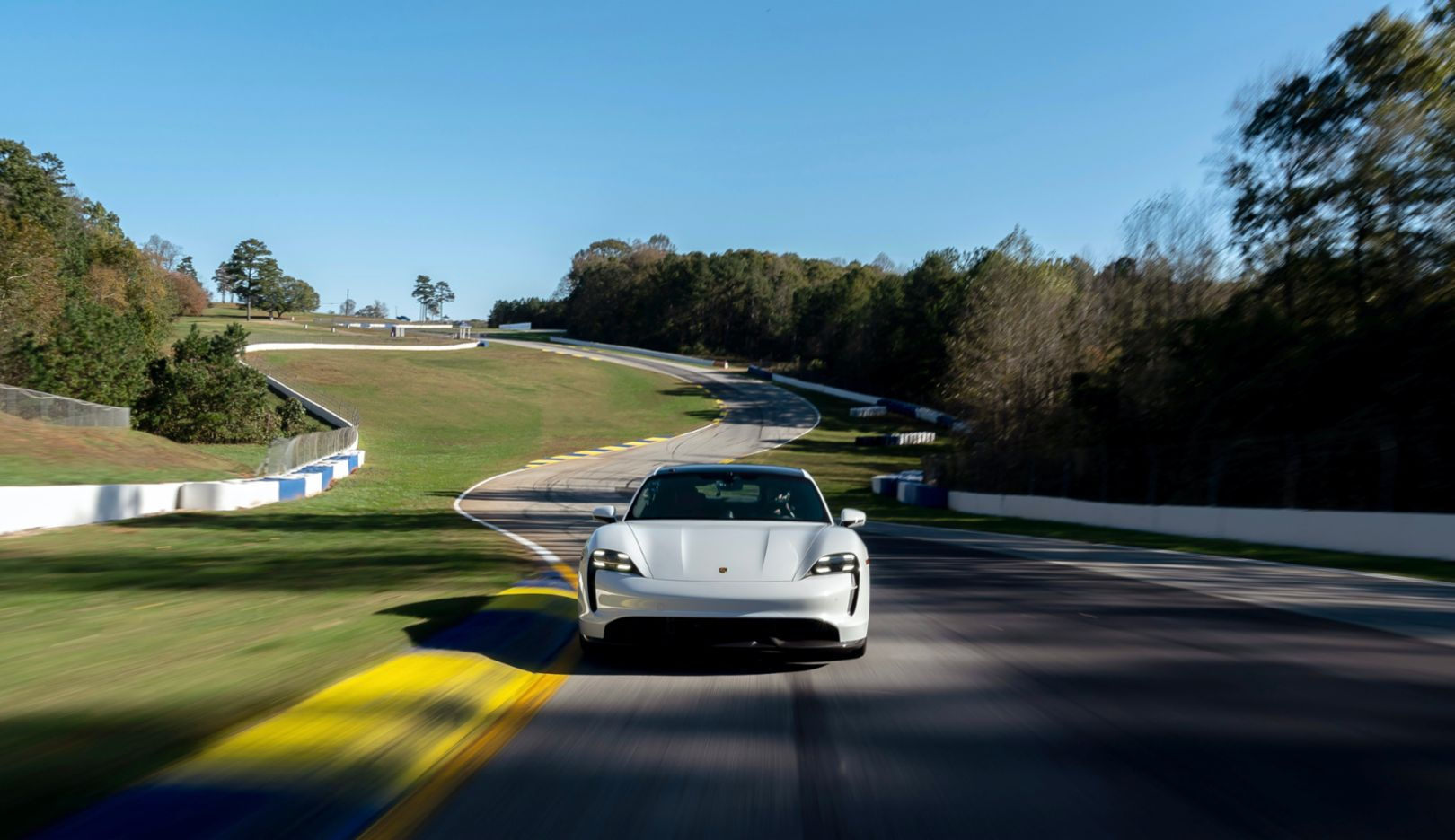 Porsche Taycan Turbo S sets production EV lap time at Michelin Raceway Road Atlanta