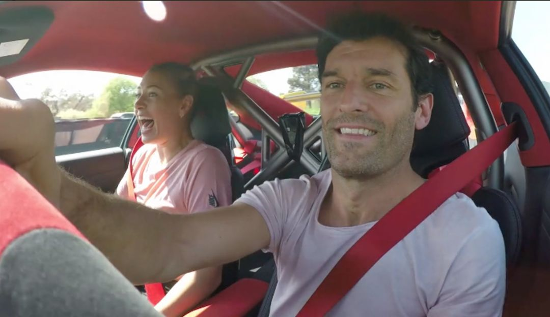 Maria Sharapova and Mark Webber in the 911 GT2 RS