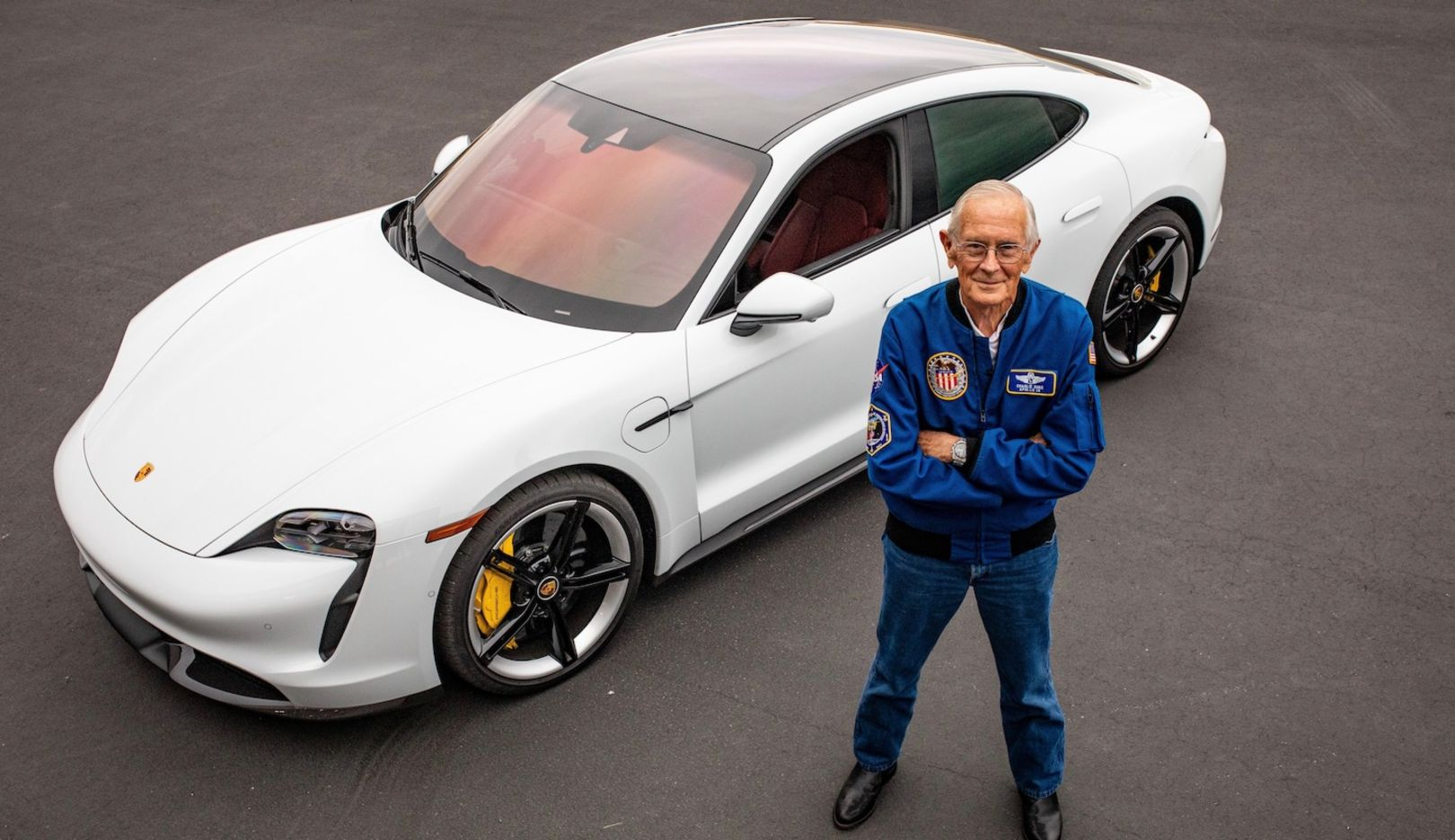 A spaceman's first electric drive on earth