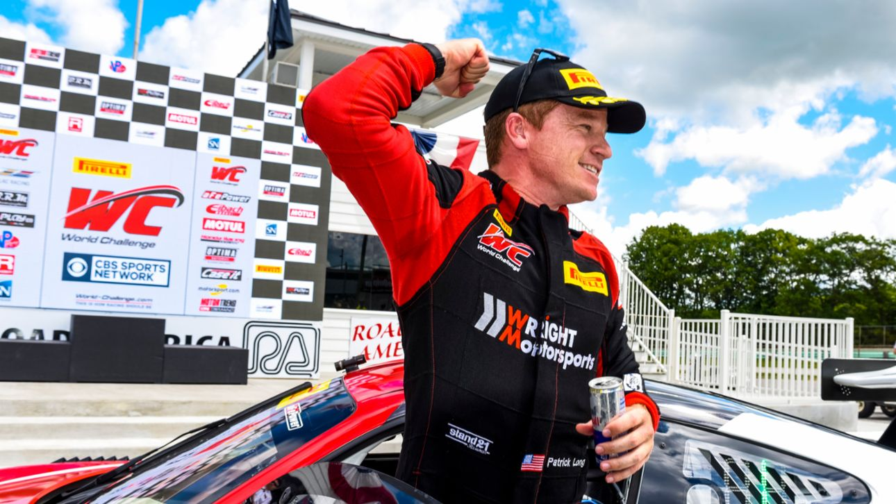 2017 Pirelli World Challenge - Road America - Patrick Long Fist Pumps Victory at Road America Race 2, 2017, PCNA