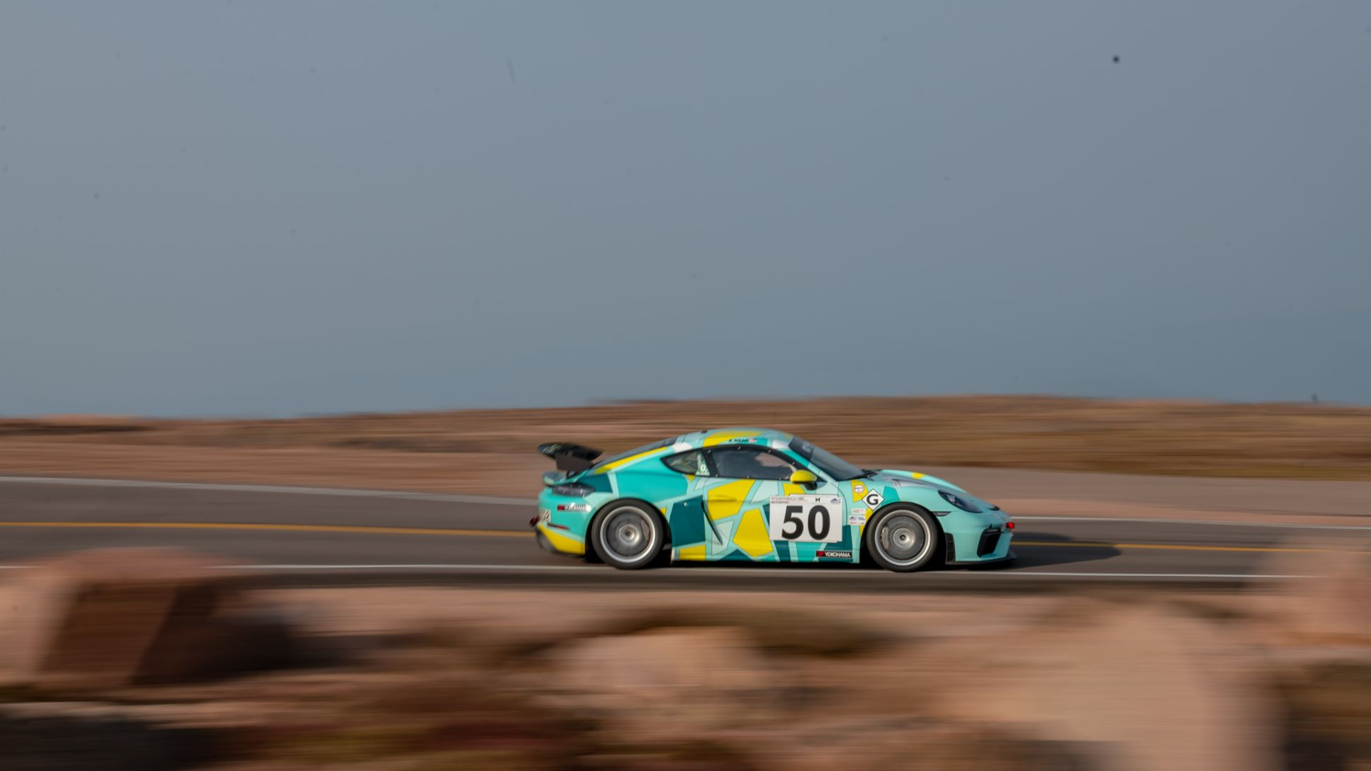 2020 - Pikes Peak - Tuesday - Aug 25 - No. 50 Porsche Cayman GT4 Clubsport - Kathryn Mead - by Marc Urbano
