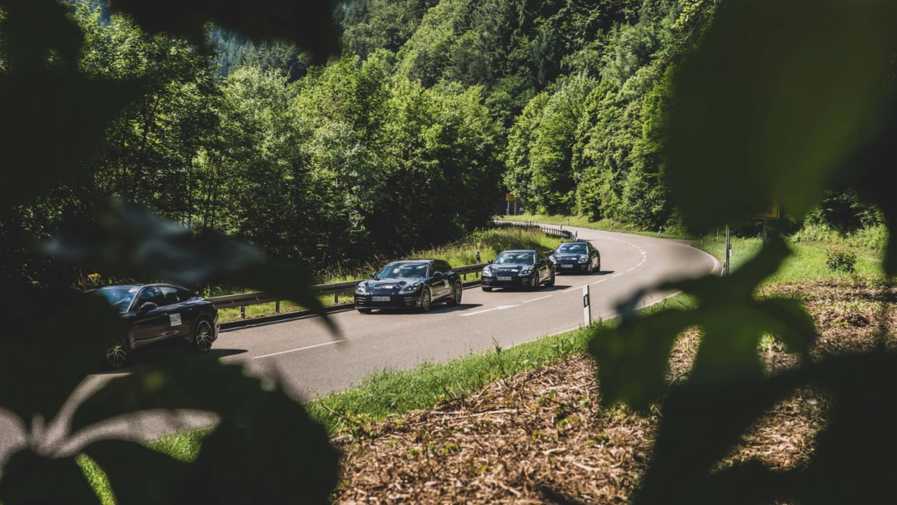 Testing of the new Panamera, Black Forest, Germany, 2020, Porsche AG