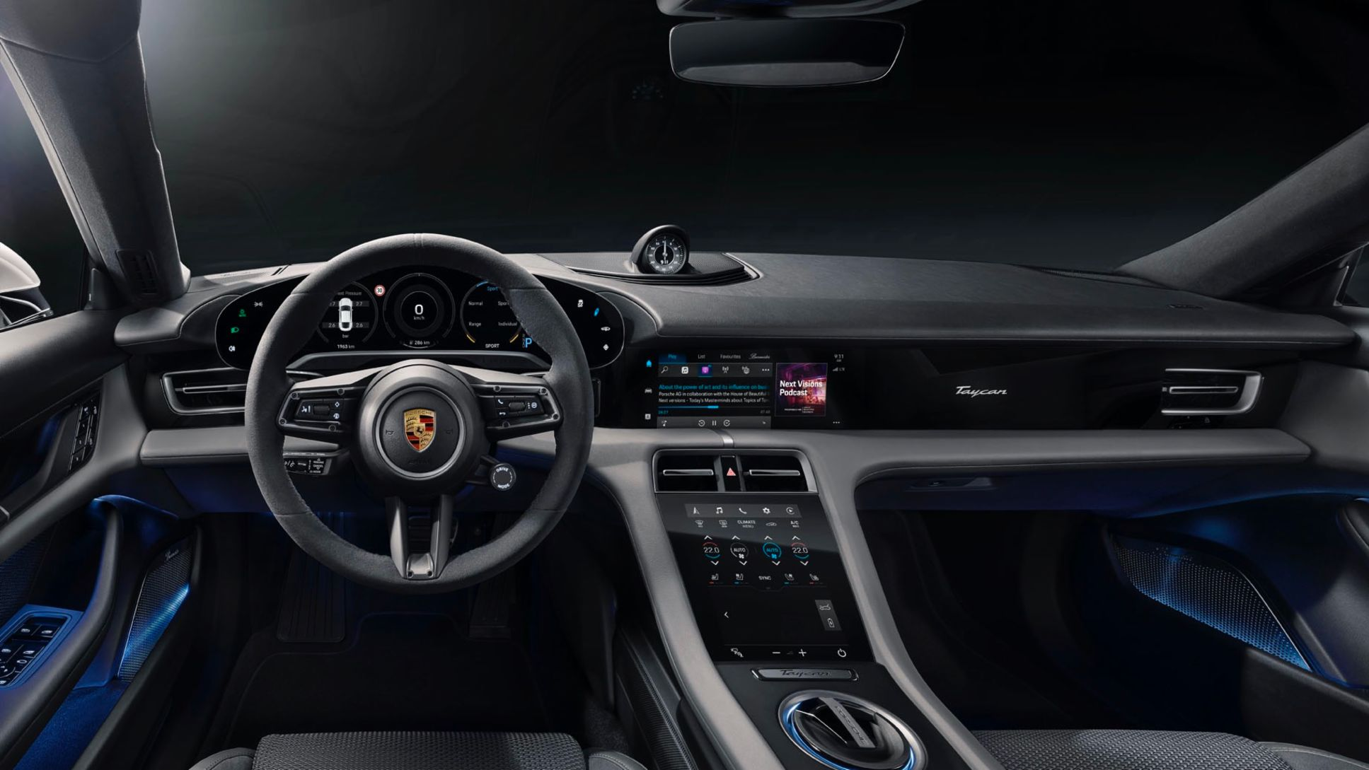 Interior of the Taycan Turbo S, 2020, Porsche AG