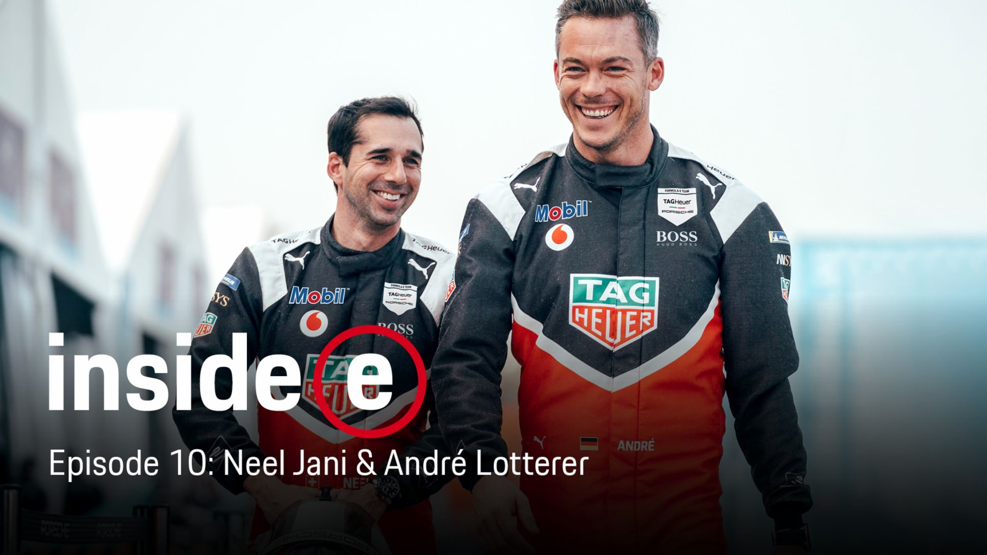 """Inside E"" podcast, episode 10 with Neel Jani and André Lotterer, l-r, 2020, Porsche AG"