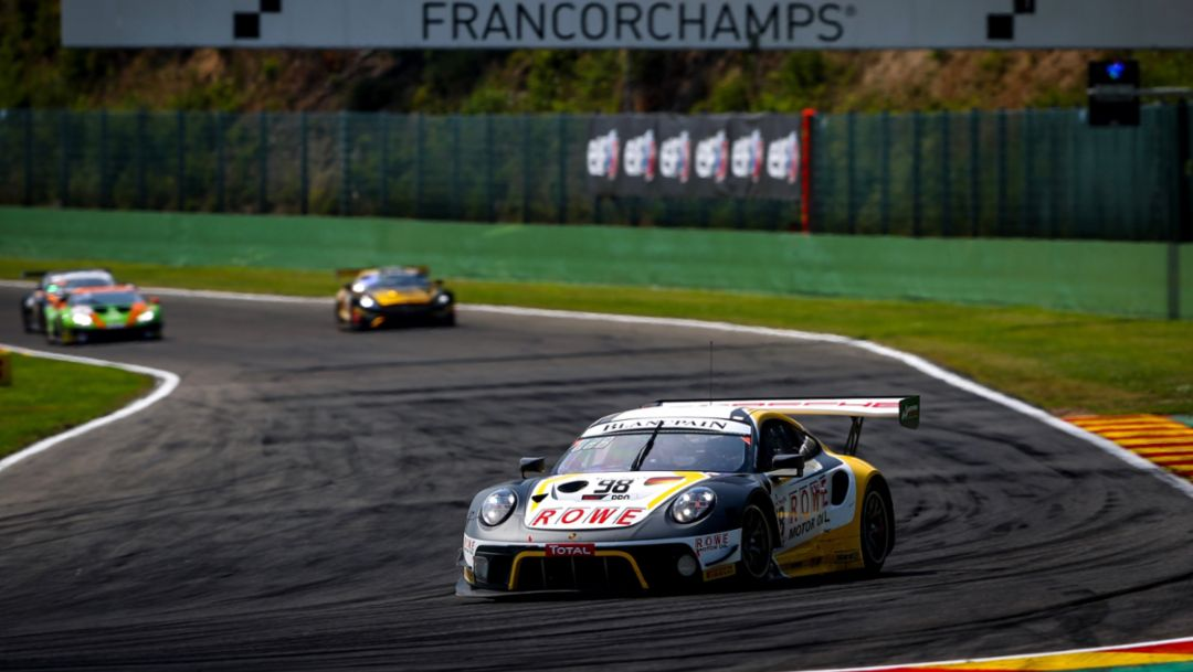 911 GT3 R (98), ROWE Racing, freies Training, 24 Hours of Spa, 2019, Porsche AG