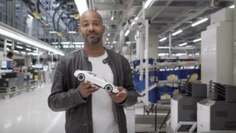Tyron Ricketts presents the first fully electric Porsche