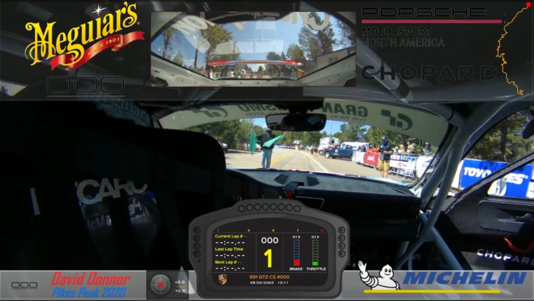 Onboard recording of David Donner's winning run at Pikes Peak