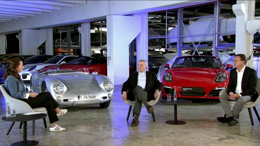 Porsche Museum Heritage Talk with Grant Larson and Horst Marchart: Boxster 25 years