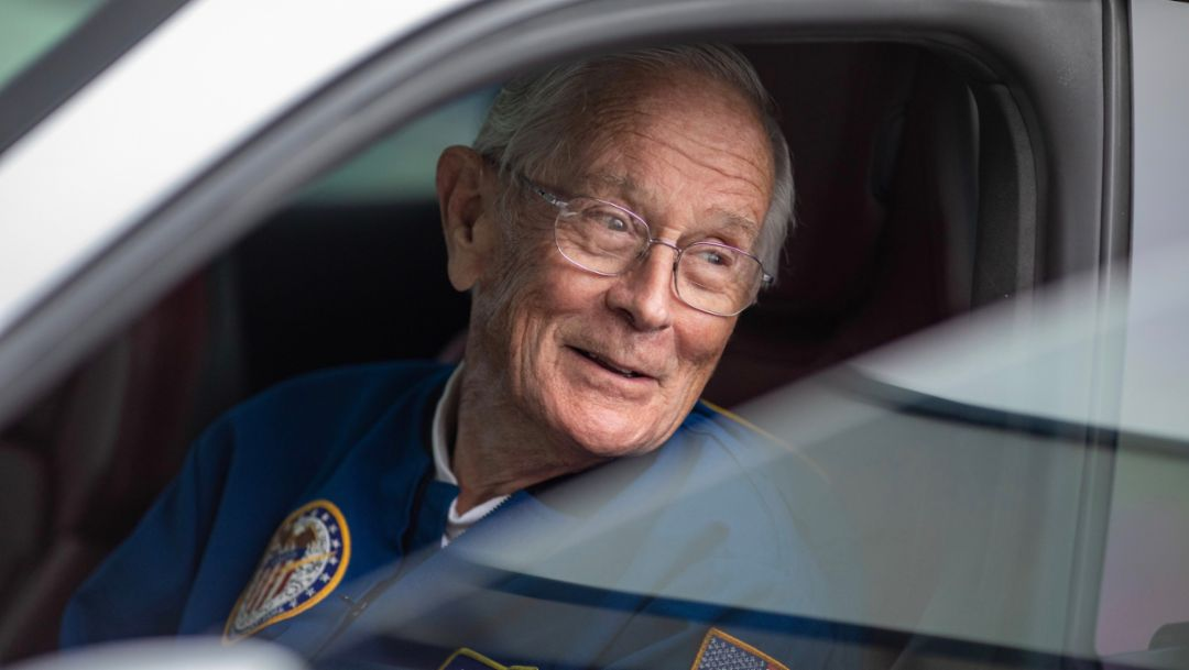 Charlie Duke's first electric drive on earth