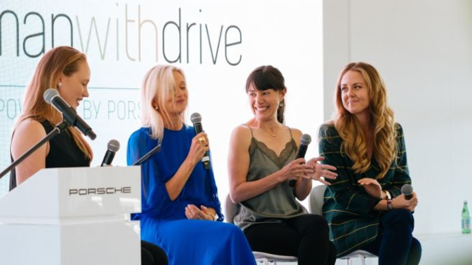 Speaker panel woman with drive lunch 2019 Australian Grand Prix