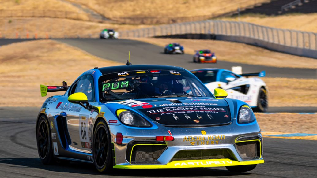 SRO - Sonoma - GT4 America - No. 66 TRG Porsche 718 Cayman GT4 Clubsport - Spencer Pumpelly (USA), 2020, PCNA