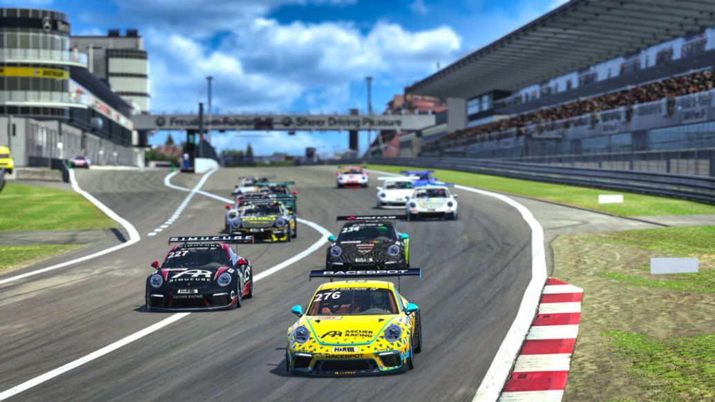 In the new Digital Nürburgring Endurance Series also start the Porsche 911 GT3 Cup