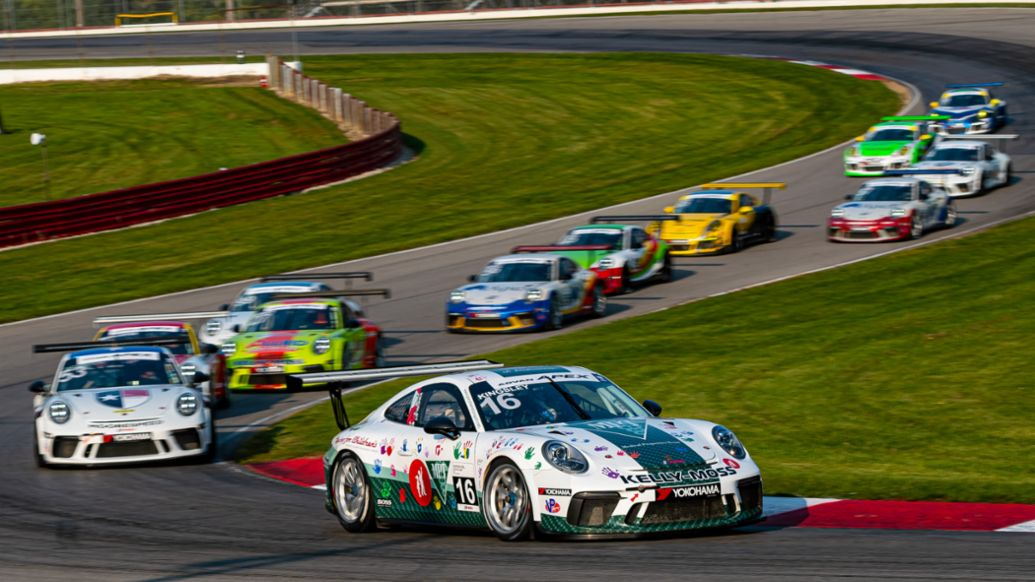 Porsche GT3 Cup Challenge USA at Mid-Ohio - No. 16 Kelly-Moss Road & Race Porsche 911 GT3 Cup - Jeff Kingsley (CAN), 2020, PCNA