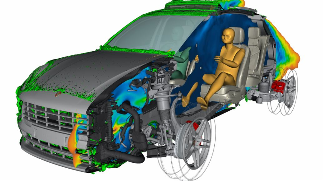 Digital prototype of the current Macan, Weissach, 2021, PCNA