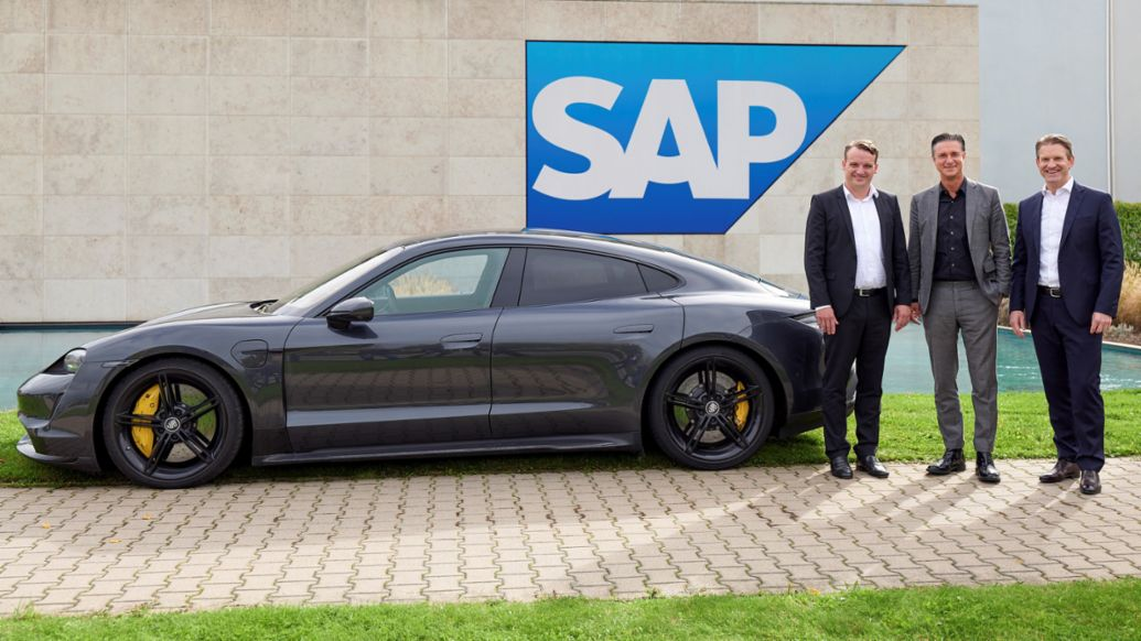 Christian Klein, Co-CEO of SAP SE, Lutz Meschke, Deputy Chairman and Member of the Executive Board for Finance and IT at Porsche, Dr. Daniel Holz, Managing Director of SAP Germany, 2019, Porsche AG