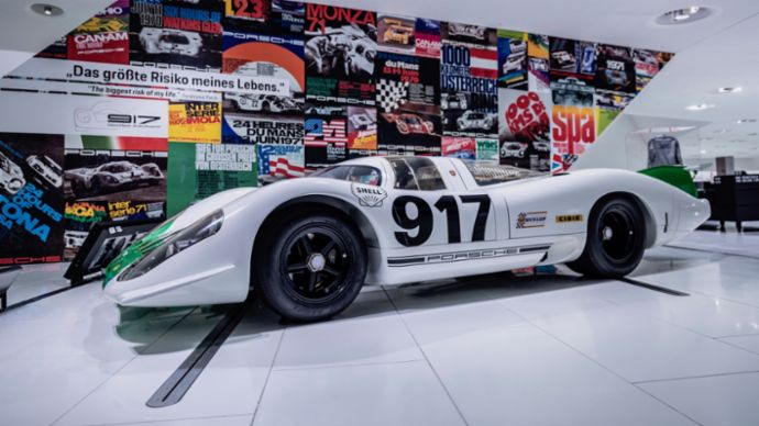 917-001, special exhibition 50 Years of the Porsche 917 – Colours of Speed, Porsche Museum, 2019, Porsche AG