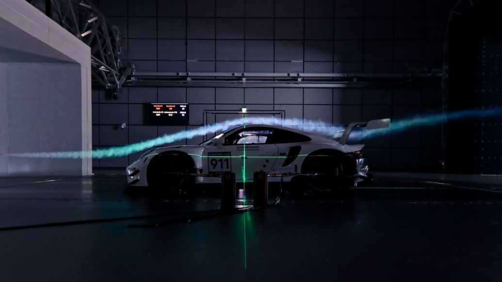 911 RSR (2019 model year), Porsche wind tunnel, Weissach, 2019, Porsche AG