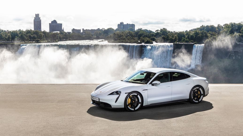 World premiere of the new Porsche Taycan in North America, 2019, Porsche AG