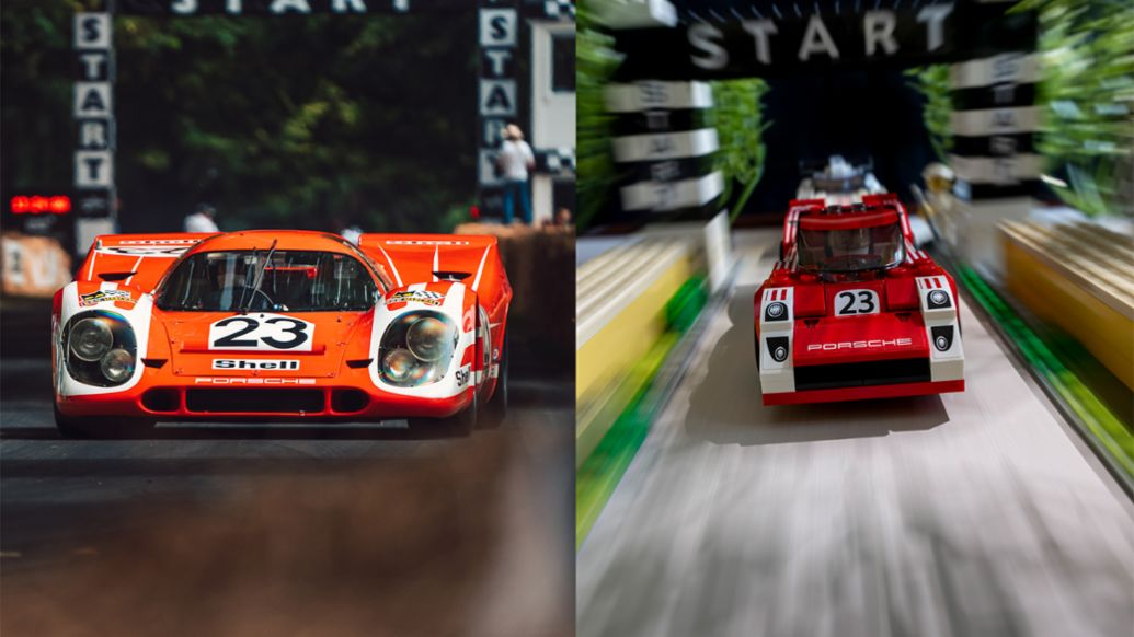917K at the Goodwood Festival of Speed, recreation with Lego, 2020, Porsche AG