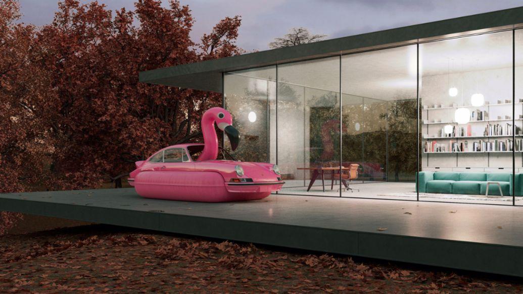 Flamenco 911 RS, arte de Chris Labrooy, 2020, Porsche AG