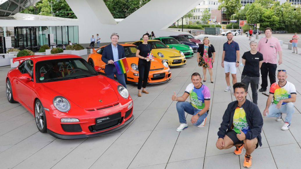 Andreas Haffner, Member of the Executive Board Human Resources and Social Affairs, l, 911, Christopher Street Day, 2020, Porsche AG