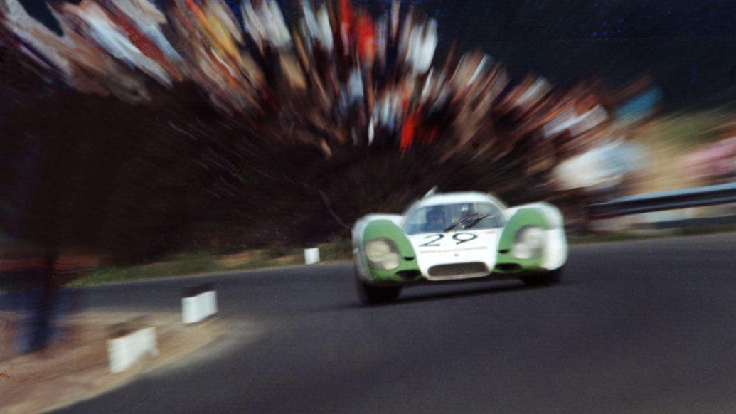 Porsche 917, drivers: Kurt Ahrens and Jo Siffert, race in Zeltweg, 1969, Porsche AG