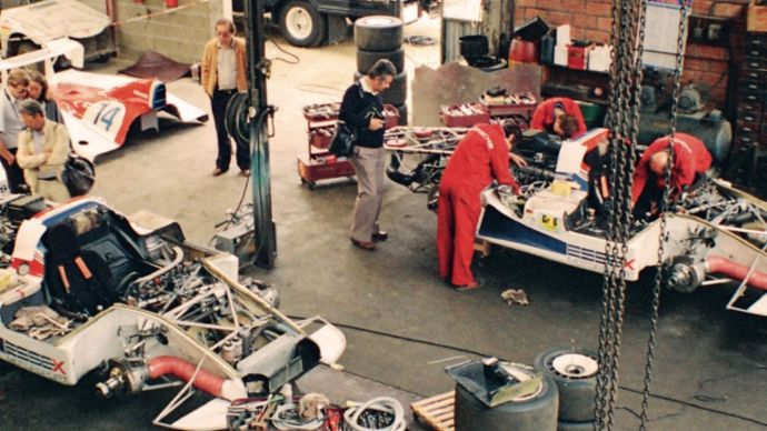 Garage in Teloché, 1979, Porsche AG