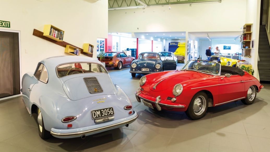356 A Super Coupé, 356 A 1500 GS Carrera, 356 B Roadster, l-r, 2020, Porsche AG