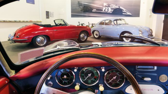 Cockpit 356 A 1500 GS Carrera, 356 B Roadster, 356 A Super Coupé, 2020, Porsche AG