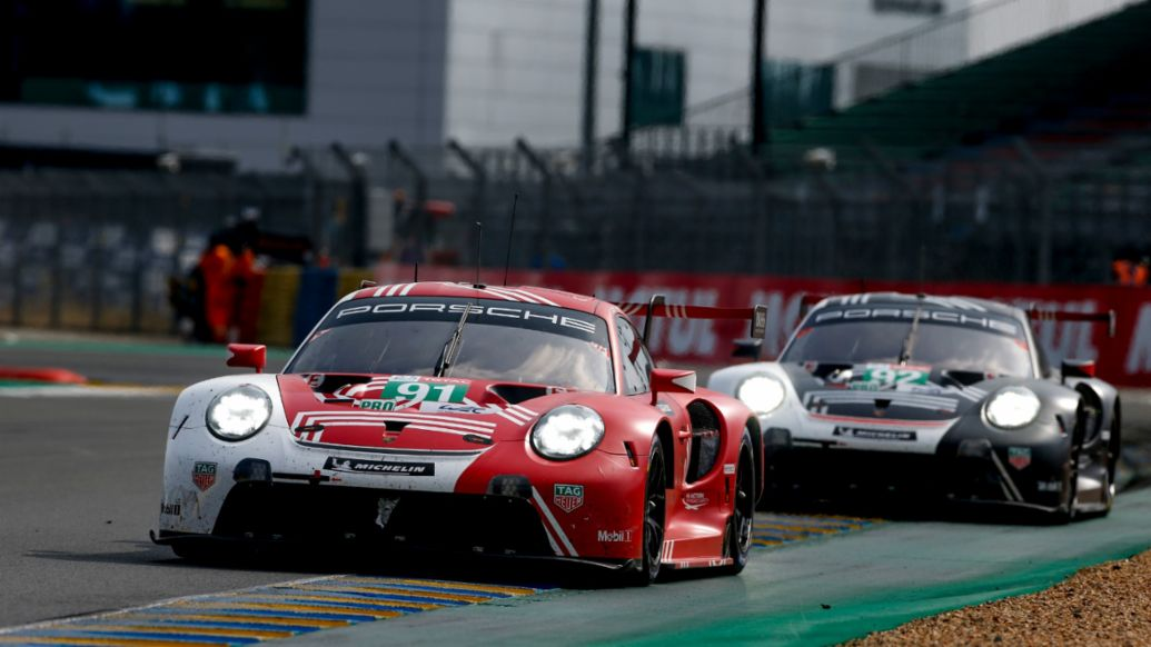 911 RSR (#91), 911 RSR (#92), 24 Hours of Le Mans, race, 2020, Porsche AG