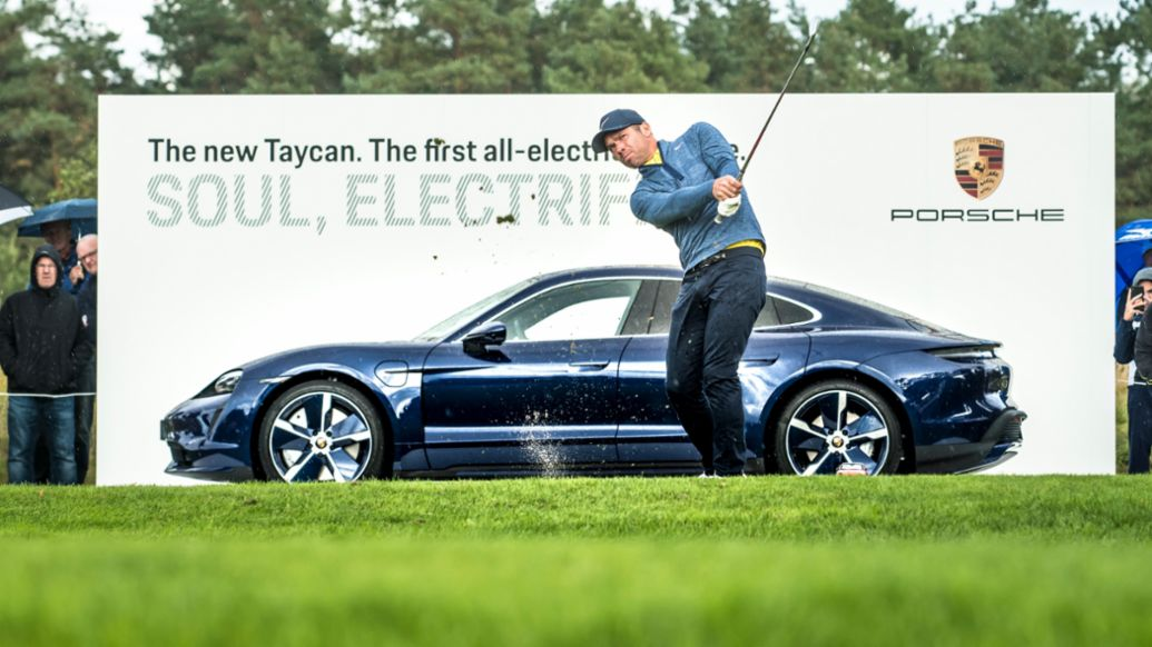 Paul Casey, Taycan Turbo, 2019 Porsche European Open, Hamburg, 2020, Porsche AG