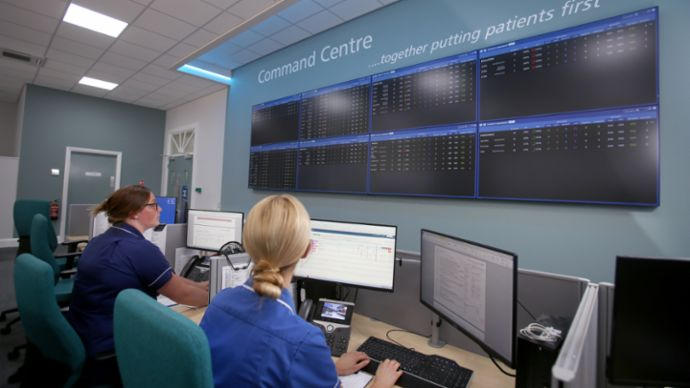 Command Centre at Bradford Teaching Hospitals NHS Foundation Trust, 2020, Porsche Consulting GmbH