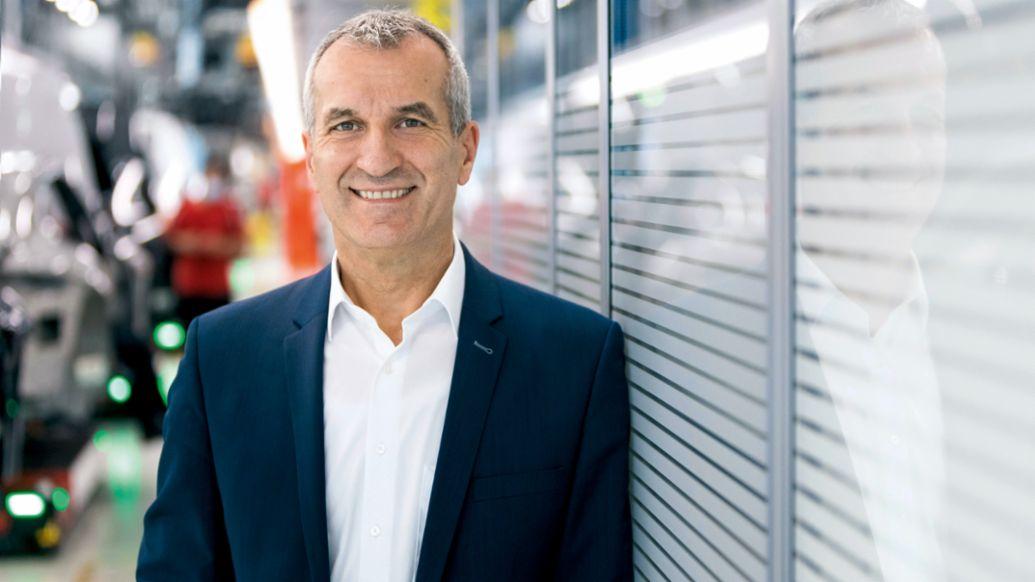 Albrecht Reimold, Mitglied des Vorstands für Produktion und Logistik, 2021, Porsche AG