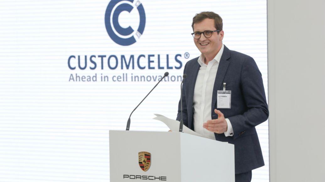 Torge Thönnessen, CEO Customcells, 2021, Porsche AG
