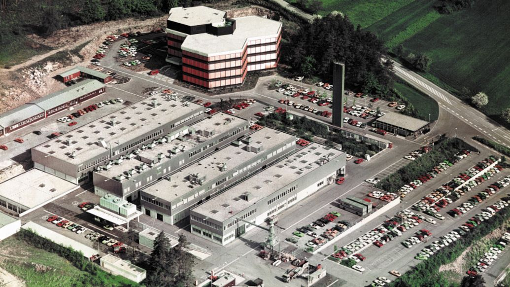 Development centre in Weissach, 1975, Porsche Engineering