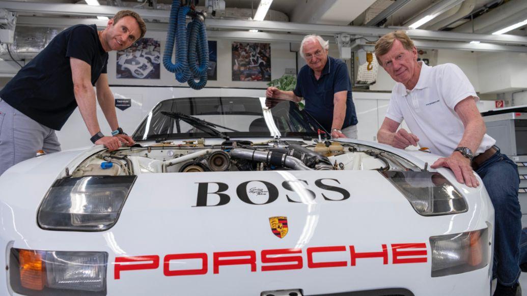 Norbert Singer, Walter Röhrl, Timo Bernhard, 924 GTP, 2021, Porsche AG