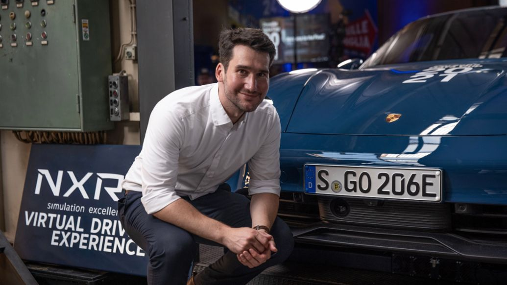 Christoph Acker, Project Manager for Innovation Strategy at Porsche, Taycan 4S, 2021, Porsche AG