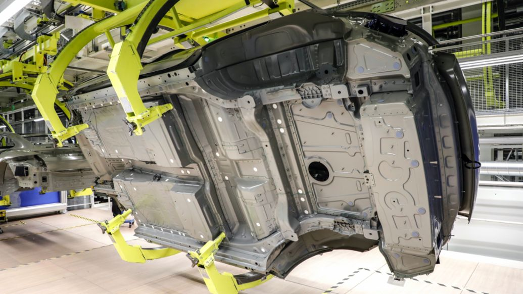 Production process for the Taycan, 2021, Porsche AG