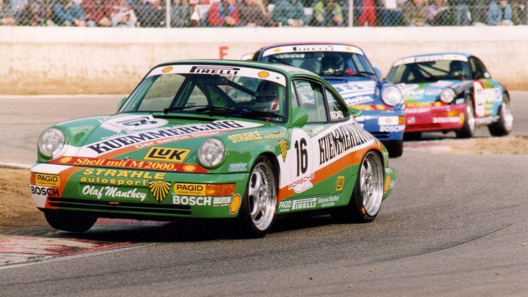 Olaf Manthey war erster Champion des Porsche Carrera Cup Deutschland, 1990, Porsche AG