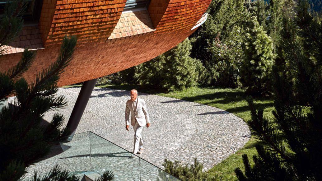 Lord Norman Foster, St. Moritz, Switzerland, 2021, Porsche AG