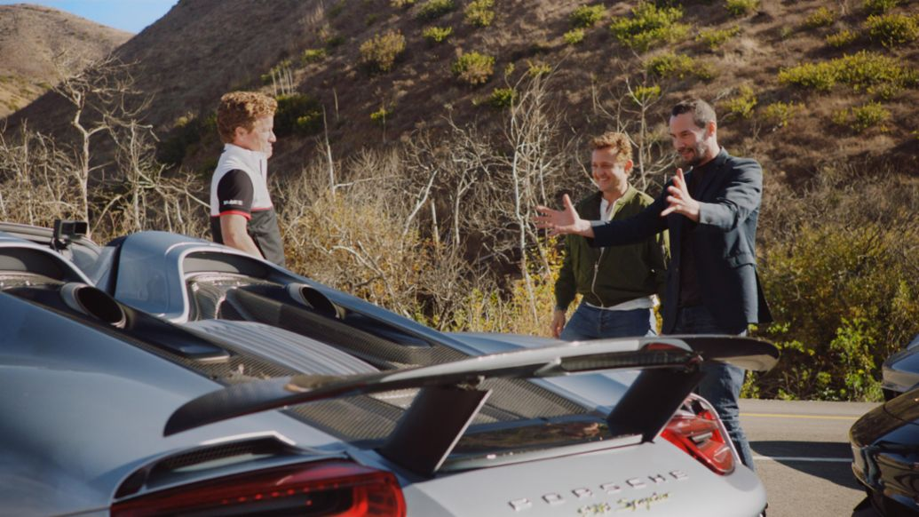 Patrick Long, Alex Winter, Keanu Reeves, 918 Spyder, 2021, Porsche AG