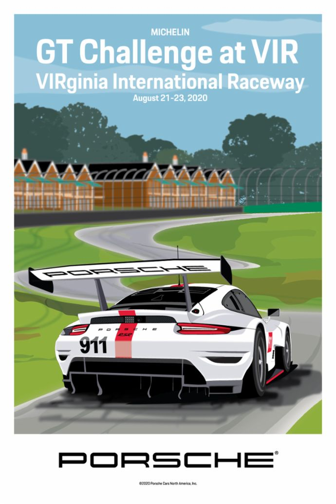 VIRginia International Raceway, IMSA WeatherTech SportsCar Championship, poster, 2020