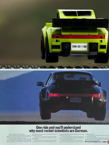 930 Turbo, recreation with Lego, 2020, Porsche AG