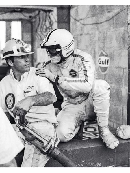 Steve McQueen, r, 1970, Porsche AG