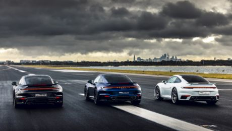 Porsche holds spectacular 'Launch Control' event at Sydney Airport