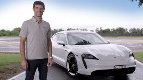 Special delivery: Taycan taxi with Mark Webber